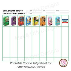 Booth Tally sheet   GIRL SCOUTS   GIRL SCOUTS   Pinterest   ... on