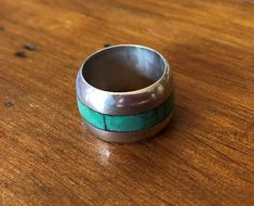 Vintage Carlos Diaz Ring, Sterling Silver Size 5 Women's Ring, Wide Wedding Band, Handmade Southwest Jewelry, Gifts for Her Wide Wedding Bands, Native American Rings, Jewelry Gifts, Unique Jewelry, Southwest Jewelry, Sterling Silver Jewelry, Gifts For Her, Rings For Men, Handmade Gifts