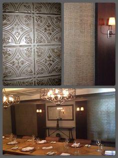 The Inn at Rancho Santa Fe Faux Tin Decorative Tile  Walls
