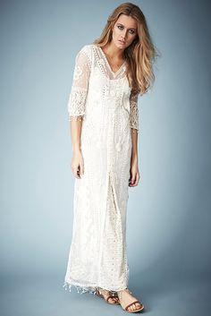 **Maxi robe en dentelle crochetée Kate Moss pour Topshop - Kate Moss pour Topshop - Vêtements - Topshop en français