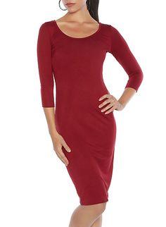 Jersey Knit Midi Dress