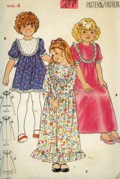 Vintage Sewing Pattern 1970's Butterick 5690 Girls Retro Maxi Dress size 4