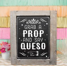 Printable Party Sign  /  Cute Photo Booth Prop Fiesta Cinco De Mayo Bar Sign / DIY Instant Download / Ready To Print by PartyLikeKitty on Etsy https://www.etsy.com/listing/244588661/printable-party-sign-cute-photo-booth