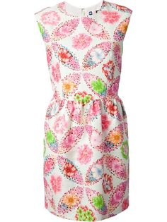 MSGM Sleeveless Floral Shift Dress