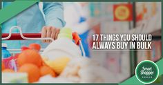 Buying in bulk is a smart move for great savings. Discover 17 things that you should always buy in bulk. #fashion #style #stylish #love #me #cute #photooftheday #nails #hair #beauty #beautiful #design #model #dress #shoes #heels #styles #outfit #purse #jewelry #shopping #glam #cheerfriends #bestfriends #cheer #friends #indianapolis #cheerleader #allstarcheer #cheercomp  #sale #shop #onlineshopping #dance #cheers #cheerislife #beautyproducts #hairgoals #pink #hotpink #sparkle #heart…