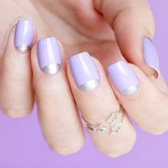 The Quickest Way To Update Your Manicure Add A Half Moon Detail Pastel
