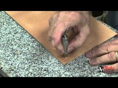 Carving Leather Tutorial Part 3 With Leather Craftsman and Saddle Maker Bruce Cheaney - YouTube
