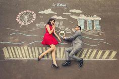 Prewedding photo idea - LeMotion Jakarta - www.thebridedept.com