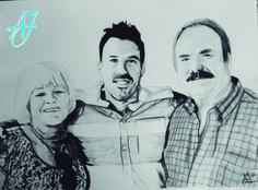 #AJ_ Familia junta por Navidad. El regalo de un hijo a unos padres puede ser cualquier cosa, pero algo así es emotivo, personal y único. ¿Quieres uno? Escríbeme. Carboncillo sobre papel A3. Desde #benalmadena, #malaga, @AmparoJurado85 #docente2.0 #aj_informa con mucho #arte #pintura #carboncillo #fotografia #art #lovingart #loveart desde #andalucia #españa porque #estaes_espania #estaes_andalucia #estaes_malaga #lovingmalaga #ilovemalaga #lovebenalmadena #costadelsol #regalosnavideños