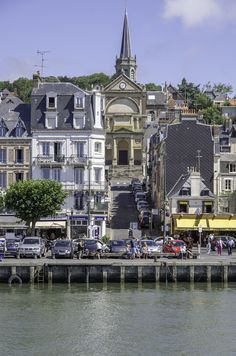 All things Europe — Trouville-sur-Mer, France (by thierry COLAS) Places Ive Been, Places To Go, Beautiful Places To Visit, Croatia, Paris Skyline, Cathedral, Spain, Europe, Mansions