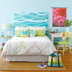 How To: Fabric-Covered Headboard - This might be wishful thinking, but I think I like the idea of a padded headboard for sitting up in bed and reading, or watching TV.