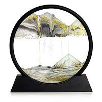 Sands Of Time.    Simply rotate the glass ring and marvel as the delicate light and dark sands shift into deserts, mountains, clouds, rain, oceans and smoke, all ebbing and flowing into one another. Created by Klaus Bosch in Austria. BEST PRICE & SELECTION AT http://www.earthtechproducts.com/sand-art-pictures.html
