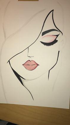 Harika Resm In 2019 Drawings Art Sketches Easy Drawings - Coloring Page Ideas Cute Easy Drawings, Easy Pencil Drawings, Cool Art Drawings, Beautiful Drawings, Face Drawing Easy, Pencil Sketches Simple, Very Easy Drawing, Girl Drawing Easy, Pencil Drawing Tutorials
