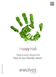 Wolves Creata - Festive Creatives on Behance Holi Pictures, Holi Images, Social Media Poster, Social Media Design, Hindu Festivals, Indian Festivals, Creative Poster Design, Creative Posters, Holi Theme