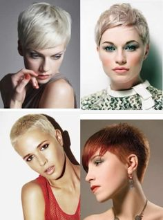 Top left picture (white hair) Very short hairstyles 2012-2013 for women | Hair Styles & Haircuts & Hair Color