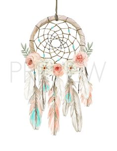 Nursery Art Dream Catcher Nursery Print Boho by KReynaDesigns