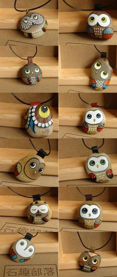 Easy paint rock for try at home (stone art & rock painting ideas) Pebble Painting, Pebble Art, Stone Painting, Owl Crafts, Crafts For Kids, Arts And Crafts, Bead Crafts, Art Pierre, Owl Rocks