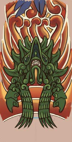 Kaiju tattoo ref. #1