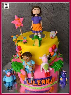 DORA AND FRIENDS CAKE (Pastel de Dora y sus amigos)