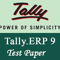 Tally ERP9 Accounting Test Paper