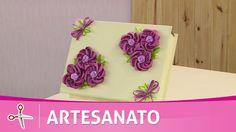 Vida com Arte | Caixa com flores bordadas por Zilda Mateus - 24 de Novem...