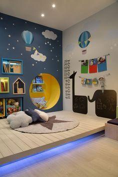 Tipps, wie aus dem Kinderzimmer ein kreativer Raum wird Tips on how the children's room becomes a creative space Baby Bedroom, Baby Boy Rooms, Kids Bedroom, Room Kids, Kids Rooms, Bedroom Decor, Bedroom Lighting, Bedroom Lamps, Bedroom Wall