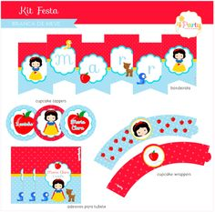Festa Branca de Neve: Kit Digital Personalizado