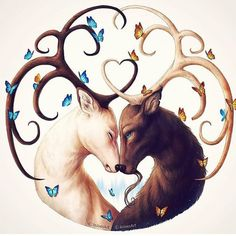 Circle of Life - Signed Fine Art Giclee Print - Wall Decor - Fantasy Deer / Stag Painting by Jonas Jödicke Fantasy Kunst, Fantasy Art, Canvas Artwork, Cool Artwork, Art And Illustration, Seele Tattoo, Animal Drawings, Art Drawings, Sick Drawings
