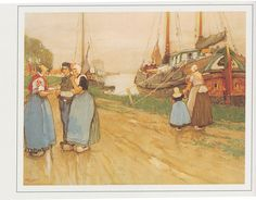 Buy online, view images and see past prices for Henri Cassiers 'Vissersfamilie bij. Invaluable is the world's largest marketplace for art, antiques, and collectibles. Vintage Cards, Vintage Postcards, Dutch People, Hay Day, Children's Book Illustration, Book Illustrations, Antwerp, Netherlands, Paper Art