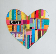 Embroidery Heart Original Hand Embroidered Love Heart £70.00