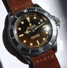 1965 Vintage Rolex Submariner Ref 5513 w Tropical Gilt Dial 610074029588 | eBay