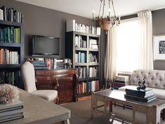 Study — Candace Barnes Interior Design Inspiration, Decor Interior Design, Interior Decorating, Office Bookshelves, San Francisco Design, Guest Room Office, Living Spaces, Living Room, Family Room
