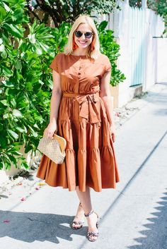 What I'm Wearing: Clay Tiered Dress | Look Linger Love | spring dress brown dress,, what to wear this spring, trending in spring fashion