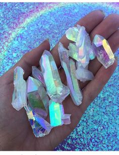 Holographic shared by Kamilė Gindulytė on We Heart It Minerals And Gemstones, Crystals Minerals, Rocks And Minerals, Stones And Crystals, Crystal Aesthetic, Images Esthétiques, Rainbow Aesthetic, Magical Jewelry, Rocks And Gems