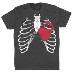 877681b2ee9a5 Gym Shirt - Squat Shirt - Kettlebell Shirt - Men s Workout Shirt - Ribcage  Kettlebell Workout T-Shirt Hand Screen Printed on a Mens Shirt