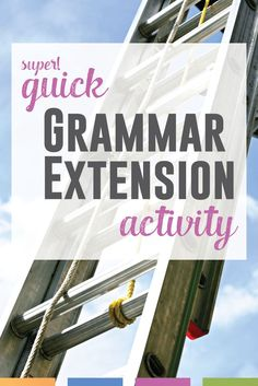 Looking for a quick grammar extension activity? This can be used with any novel or short story - and requires almost no prep!