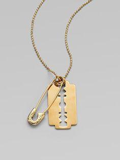 McQ Alexander McQueen Razor Blade Pendant Necklace - sold out?