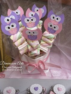 Creazioni Artigianali.....Dimensione Arte.....Linea country deby e mamy 5th Birthday Party Ideas, Baby Girl First Birthday, Birthday Favors, Baby Shower Themes, Baby Boy Shower, Owl 1st Birthdays, Kitten Party, Little Presents, Candy Gifts
