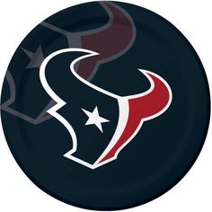 Houston Texans Plates, 8-Pack, Assorted