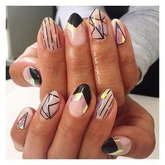 space deco for Jasmine ✨ space deco for Jasmine ✨ Foil Nail Art, Foil Nails, Luv Nails, Swag Nails, Art Deco Nails, Finger Nail Art, Short Nails Art, Nails Only, Perfect Nails
