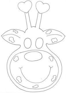 Máscara de girafa - molde de girafa máscara - máscaras girafa de animais - ESPAÇO EDUCAR