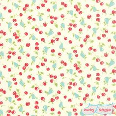 Vintage Picnic Cherries and Pears Quilt Fabric by Bonnie & Camille for Moda