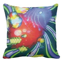 "Apparition Spice Throw Pillow. Decorate your space and your mind with the grooviest psychedelic pillows yet. Enjoy lounging in comfort and edgy style. Totally new. Totally now! The trippy image is created from my Kinetic Collage ""Sweet Dreams"" series of light show photos. How hip is that? Over 3000 products at my Zazzle online store. Open 24/7 World wide! http://www.zazzle.com/greg_lloyd_arts*?rf=238198296477835081 + See KC @  http://www.youtube.com/user/kineticcollage"