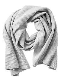Textured Metallic Blanket Scarf