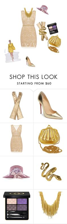 """Untitled #3611"" by ayse-sedetmen ❤ liked on Polyvore featuring Gucci, Christian Louboutin, Nicole Miller and Orlando Orlandini"