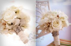17 Stunning Lace-Wrapped Wedding Bouquets | OneWed
