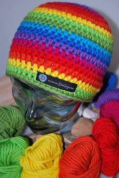 MUSTER - bunte Mütze  von DaiSign auf DaWanda.com  wunderbare Beanie - Mütze - Wollmütze - Wintermütze - Häkelmütze - Strickmütze - Skimütze  - bunt - gestreift