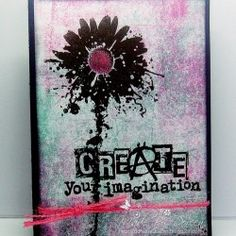 Visible Image stamps - Create - Inky Flower - Doreen OBrien