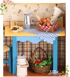 "Very Beautiful Handmade Doll Houses ""Granny's kitchen"" assemble dollhouse wooden doll houses DIY do it yourself Free shipping-in Doll Houses from Toys & Hobbies on Aliexpress.com 