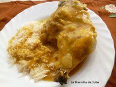 La Marmita de Julio: Muslos de Pollo al curry.